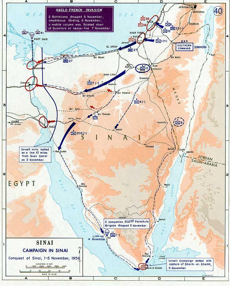 Avance de la invasión tripartira sobre el Sinai - Wikimedia Commons